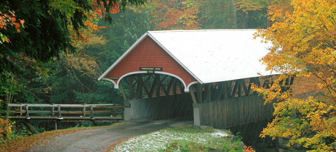 One of New Hampshire's many covered bridges.