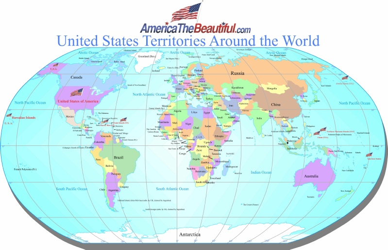 US Territories – Usa in World Map