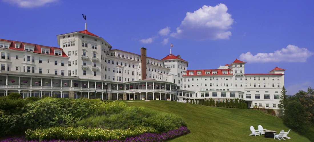 The historic Mt. Washington Hotel in the beautiful white mountains of New Hampshire.