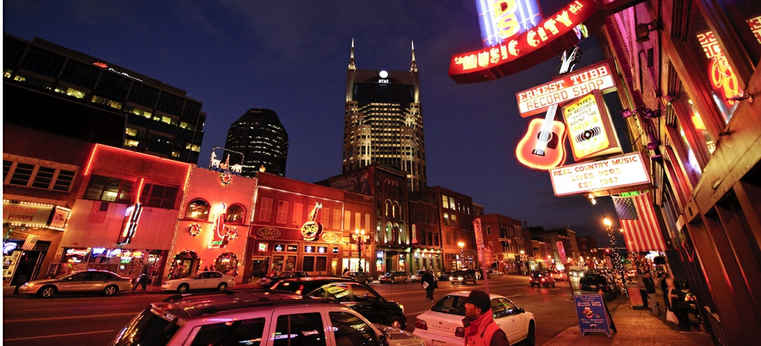 "Nashville's famous honky-tonks are an ideal destination for music fans, food lovers, and whiskey drinkers. One of the most well-known, unique nightlife destinations in Nashville is the three-block strip where Broadway and 5th Avenue intersects with Broadway and 2nd Avenue. Also referred to as ""Lo-Bro,"" ""Honky-Tonk Row"", and ""The District"", this is a must-visit area on any trip to Nashville and is located just blocks away from Hampton Inn & Suites Nashville Downtown. There's a honky-tonk for just about everyone in Nashville, so use our list to find the bars that are perfect for you!"