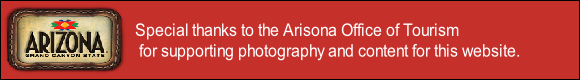 Special thanks to the Arisona Office of Tourism
